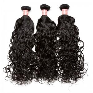 Brazilian Virgin Hair Water Wave Hair Extensions 3 Bundles 100% Human Hair (