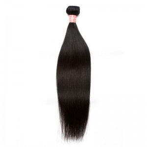 Natural Color Brazilian Virgin Human Hair Silky Straight Hair Weave 1pc Buddle