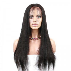 Full Lace Human Hair Wig 250% Density Malaysian Virgin Hair Lace Front Wig with Baby Hair