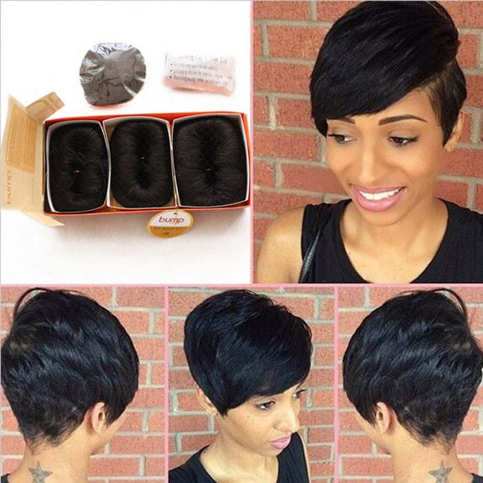 Brazilian Human Short Hair Extensions 27 Pieces Short