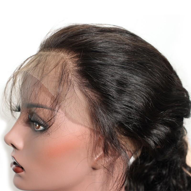 bc901fced 360 Lace Wigs 180% Density Brazilian Virgin Hair Straight Circular Full Lace  Wigs 100%