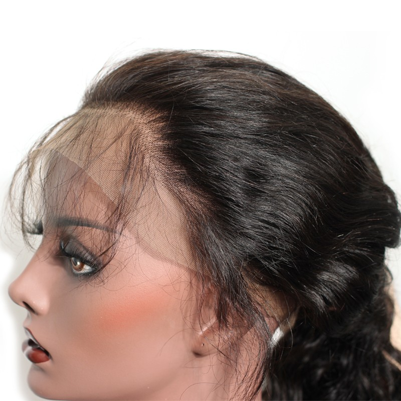 7f09a4042 Silky Straight 250% Density Lace Front Wig Pre-Plucked Glueless Full Lace  Wigs with