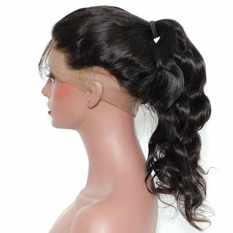 360 Lace Wigs Brazilian Virgin Hair Body Wave Circular