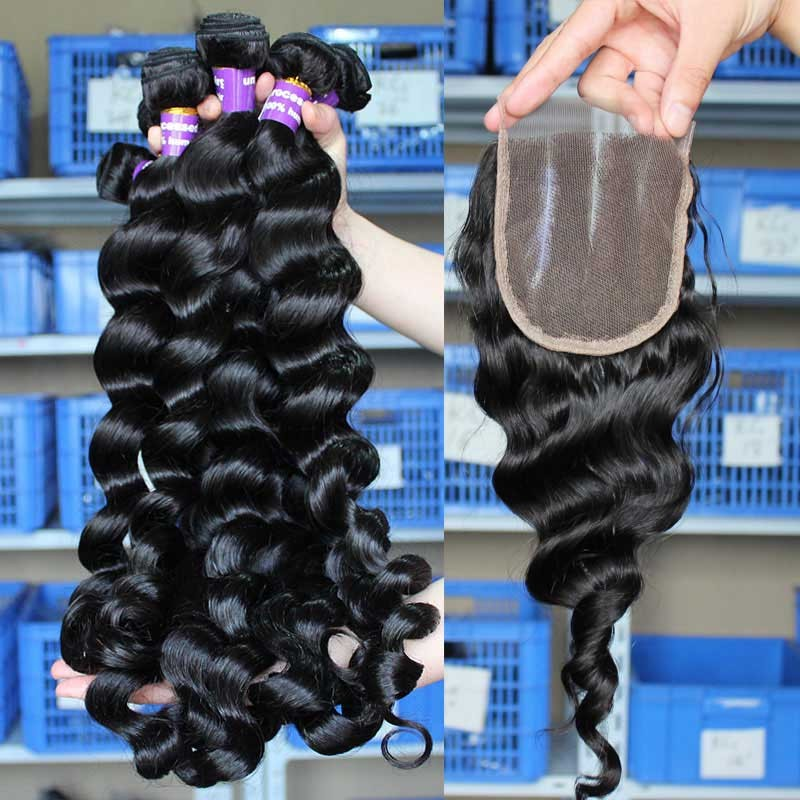 Peruvian virgin hair loose wave middle part lace closure with 3pcs peruvian virgin hair loose wave middle part lace closure with 3pcs weaves solutioingenieria Images