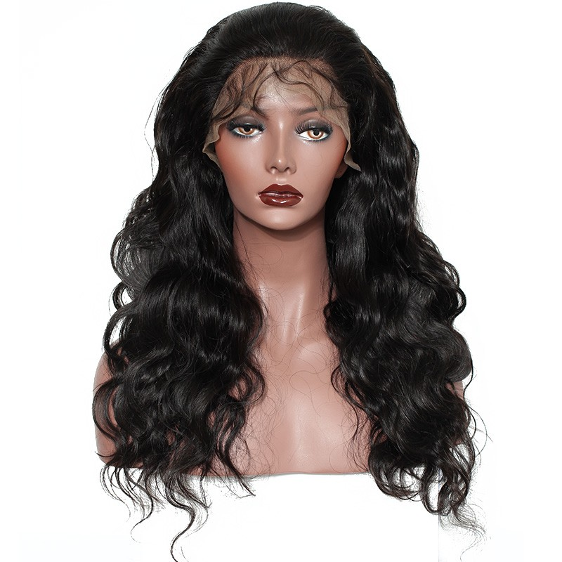 250% Lace Front human Hair Wigs Body Wave Full Lace Wigs with Baby Hair  Natural 2ab76d77f