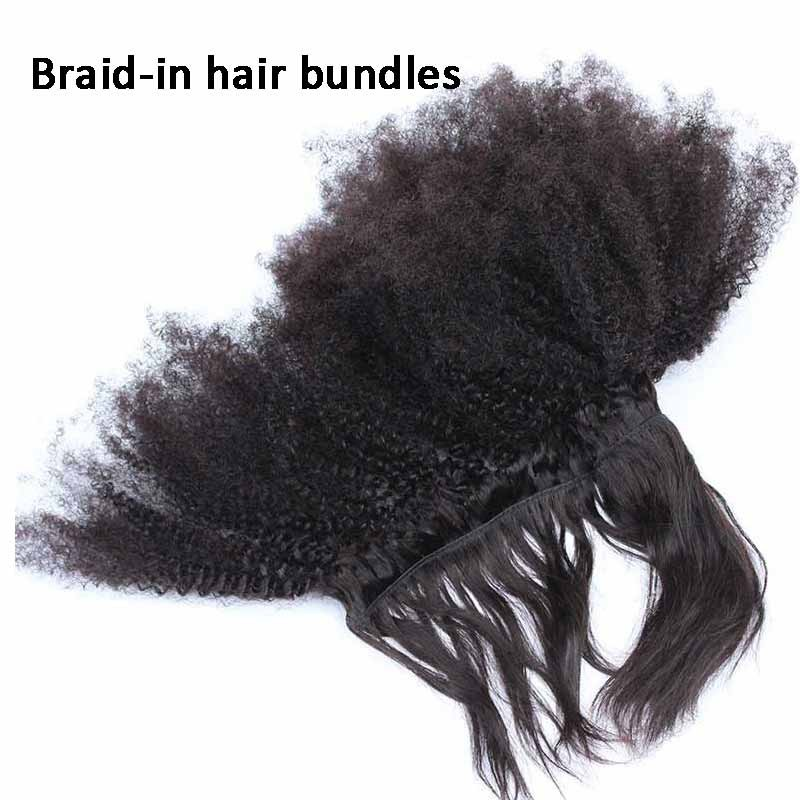 Natural color afro kinky curly braid in bundle hair weaves natural color afro kinky curly braid in bundle hair weaves brazilian virgin human hair 3 bundles pmusecretfo Image collections