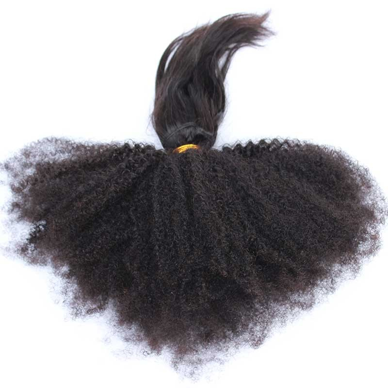 Natural Color Afro Kinky Curly Braid In Bundle Hair Weaves Brazilian
