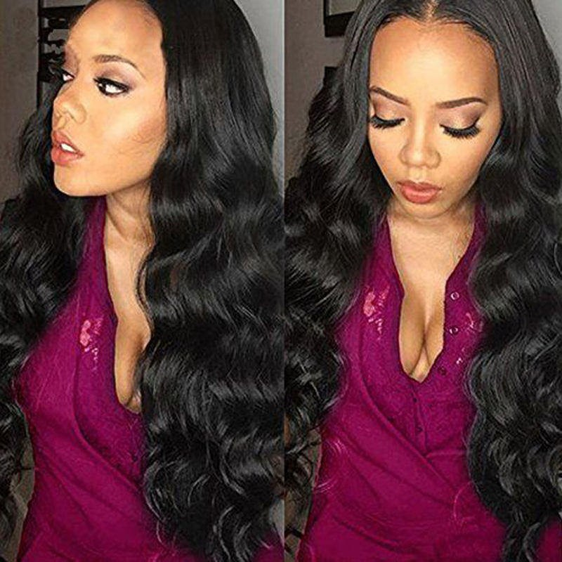 795d859a3 360 Lace Wigs Brazilian Virgin Hair Body Wave Circular Full Lace Wigs 180%  Density 100