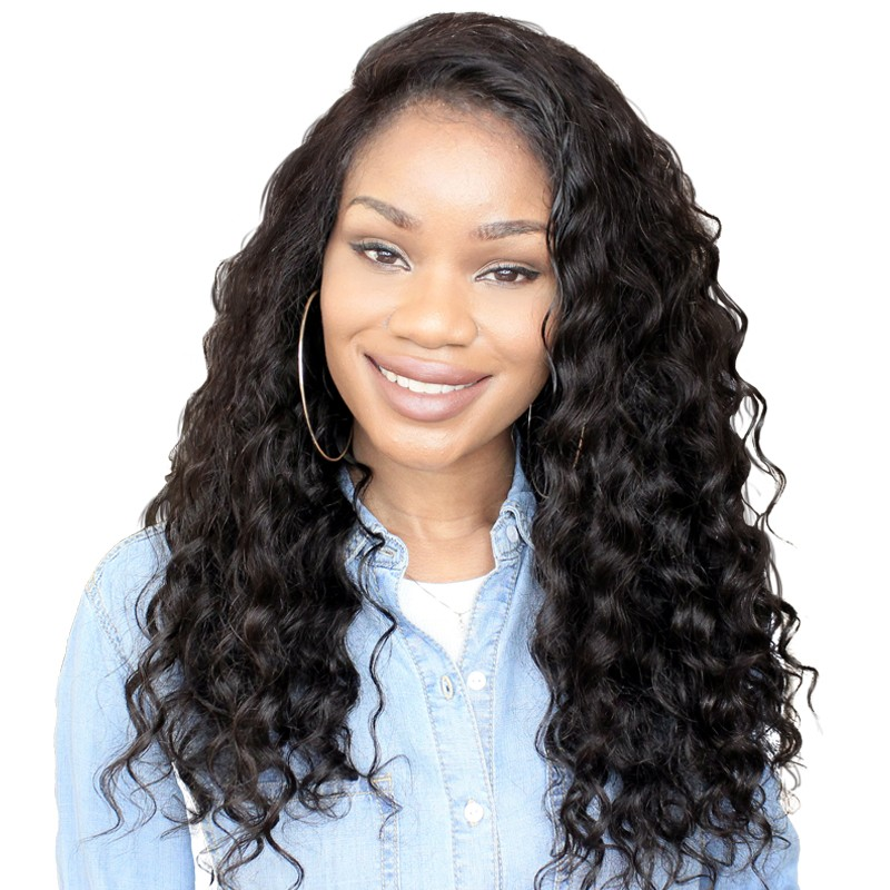 c35e61dee2 8A Brazilian Virgin Human Hair Natural Loose wave 360 Lace Wig For Women  Pre Pluecked Natural
