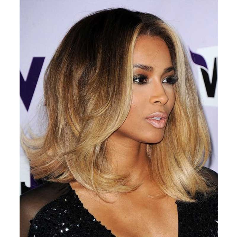 Ciara inspired ombre blonde color wavy short bob lace front human ciara inspired ombre blonde color wavy short bob lace front human hair wigs urmus Image collections