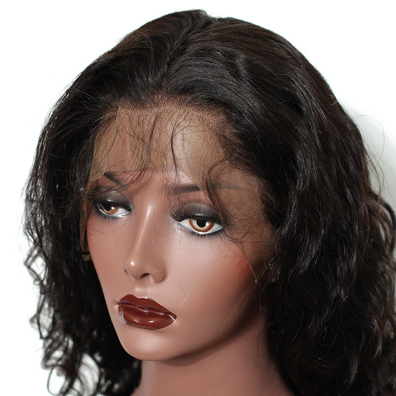 Natural Color Loose Weave Silk Top Lace Wigs Brazilian Virgin Human