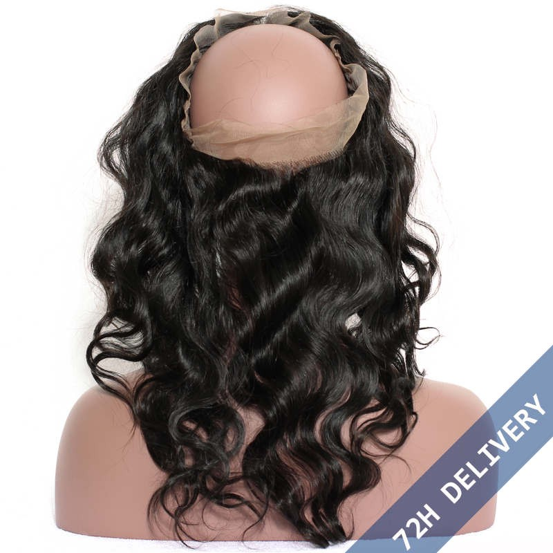 360 Lace Frontal Band Body Wave Brazilian Virgin Hair Lace Frontals