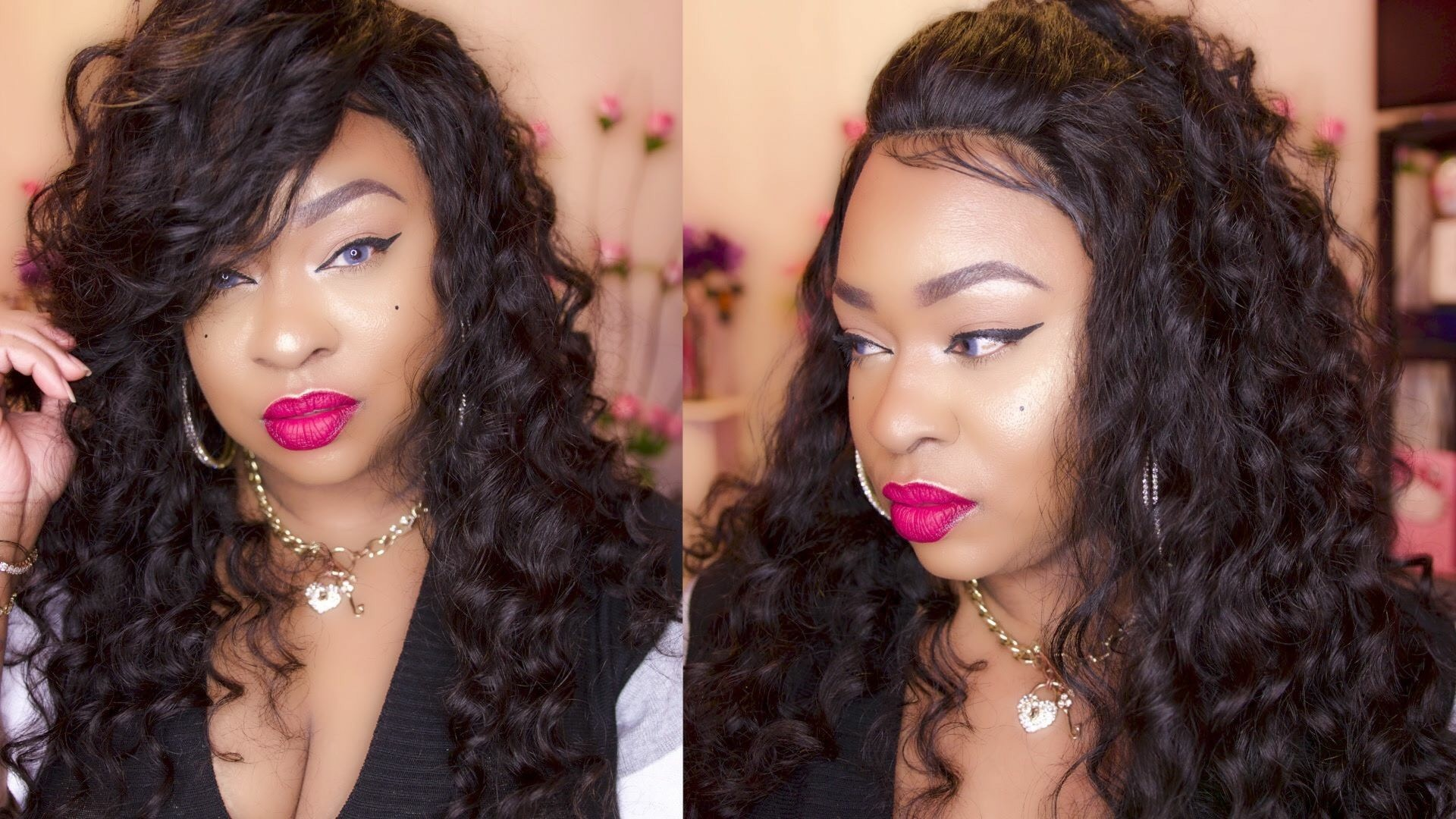 Brazilian Lace Front Ponytail Wigs Loose Wave Pre-Plucked Natural Hair Line  150% Density ad3f2d6044