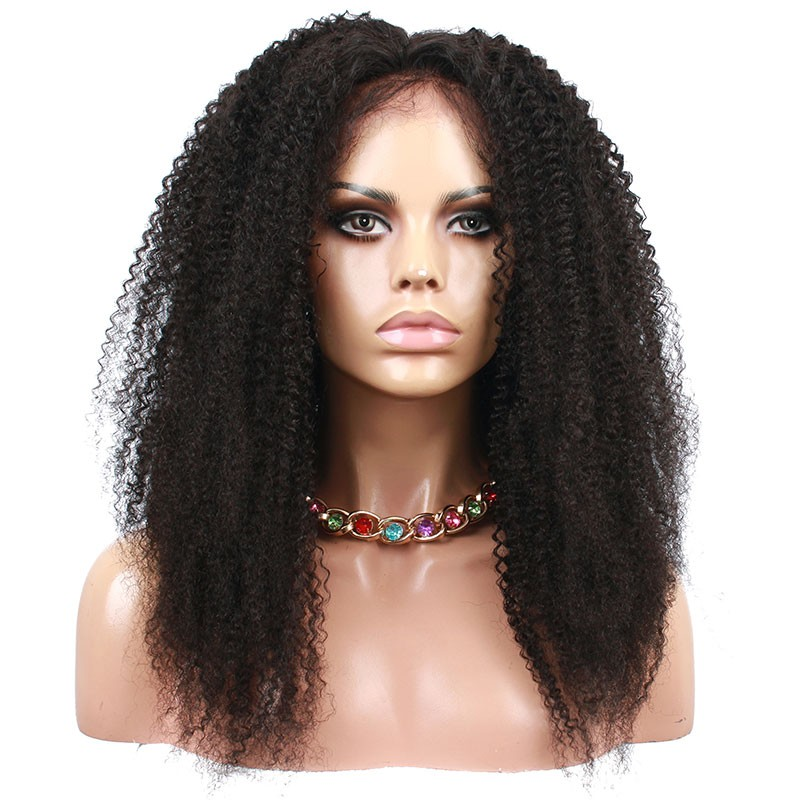 Natural color afro kinky curly human hair brazilian virgin hair natural color afro kinky curly human hair wig brazilian virgin hair full lace wigs pmusecretfo Image collections