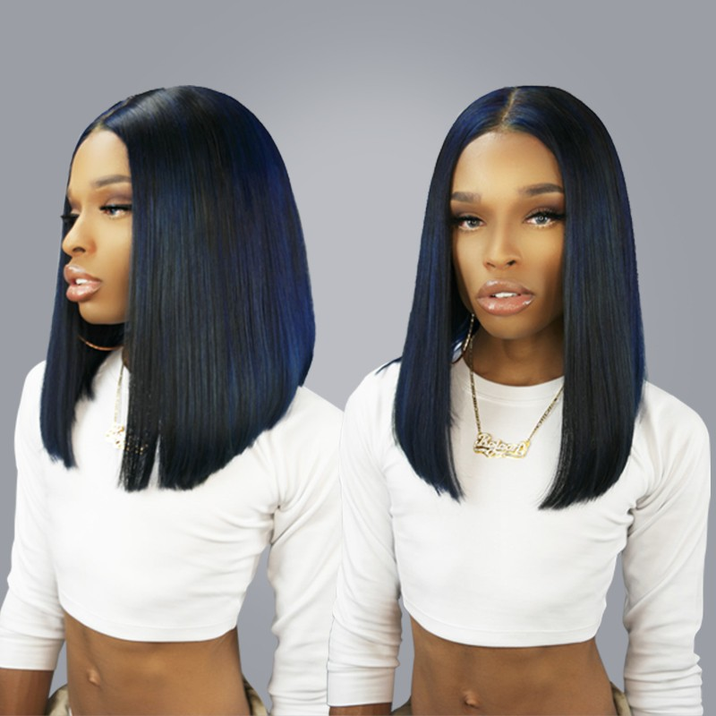 250% Density Wigs Pre-Plucked Human Hair Lace Front Wigs Black Women Full  Lace 10fd3de85