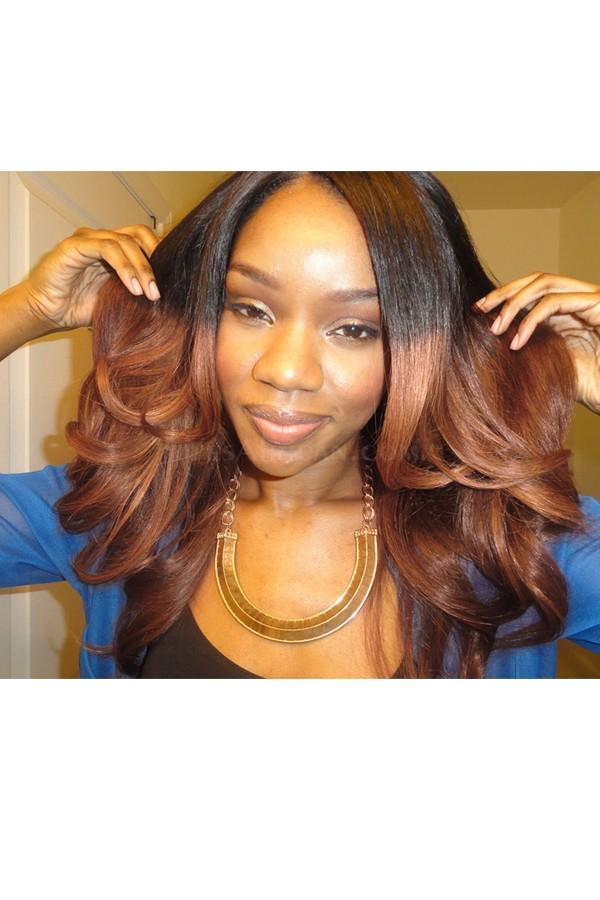 Ombre Hair Weave Color1b30 Body Wave Virgin Human Hair 3 Bundles