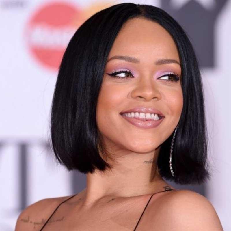 Rihanna inspired straight short bob lace front human hair wigs 250 rihanna inspired straight short bob lace front human hair wigs 250 density urmus Gallery