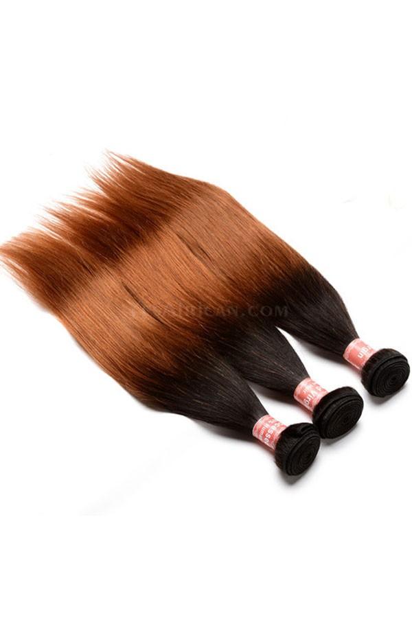 Brazilian Virgin Human Hair Ombre Hair Weave Color 1b30 Silky