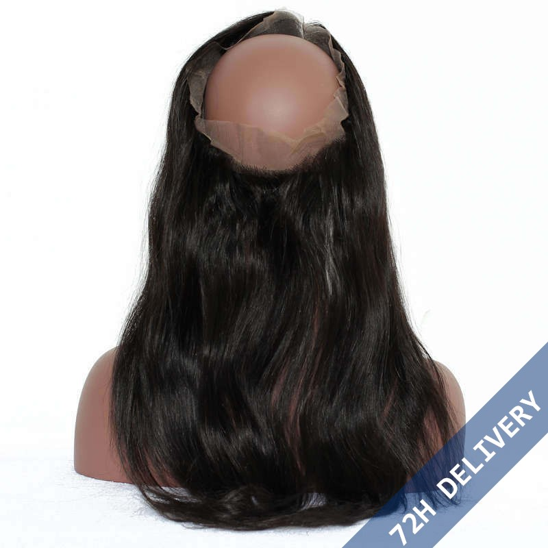 360 lace frontal band straight brazilian virgin hair lace frontals