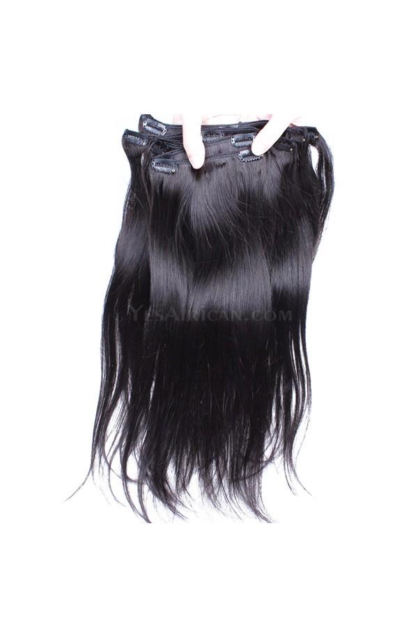 Natural Color Silky Straight Brazilian Virgin Hair Clip In Human