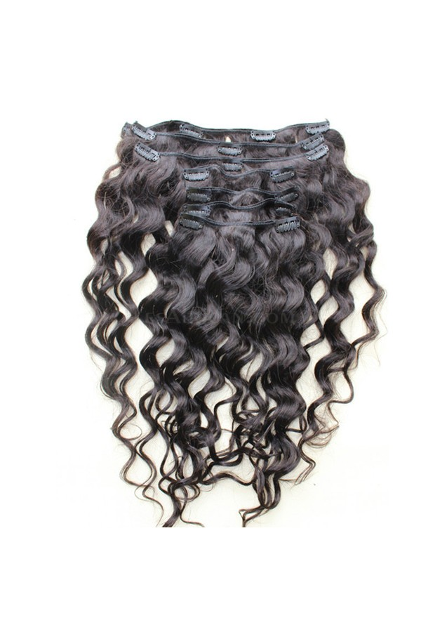 Loose Wave Indian Remy Hair Clip In Human Hair Extensions Natural