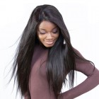 13X6 Lace Front Human Hair Wigs Pre Plucked 150% Density Straight 6inch Deep Part Brazilian Lace Frontal Black Wig For Women