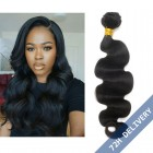 Natural Color Body Wave Brazilian Virgin Human Hair Extensions Weave 3 Bundles