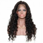 Brazilian Wigs 150% Density Loose Wave Lace Front Ponytail Wigs Pre-Plucked Natural Hair Line