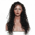 Brazilian Hair Deep Wave 250% Density Lace Front Human Hair Wigs Pre-Plucked Natural Hairline
