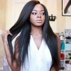360 Lace Wigs Brazilian Virgin Hair Yaki Straight 150% Density Human Hair Wigs