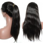 360 Lace Wigs 150% Density Brazilian Virgin Hair Straight Circular Full Lace Wigs 100% Human Hair Wigs