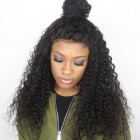 250% Density Deep Curly Lace Front Human Hair Wigs 7A Brazilian Virgin Hair
