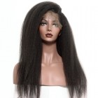 360 Circular Lace Wigs Brazilian Virgin Hair Kinky Straight Full Lace Wigs 180% Density 100% Human Hair Wigs