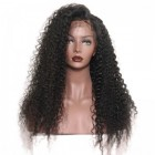 Deep Curly 250% High Density Brazilian Human Hair Lace Front Wigs with Baby for Black Women