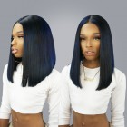 250% Density Wigs Straight  Pre-Plucked Human Hair Lace Front Wigs For Black Women