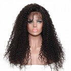 360 Lace Wigs 180% Density Circular Full Lace Wigs Deep Curly 100% Huamn Hair Wigs Natural Hair Line