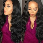 150% Density 360 Lace Wigs Brazilian Virgin Hair Body Wave Full End Lace Wigs Pre-Plucked Natural Hairline Human Hair Wigs