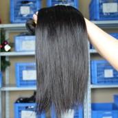 Natural Color Silk Straight Peruvian Virgin Human Hair Weave 3 Bundles