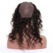 360 Lace Frontal with Cap Deep Wave Brazilian Virgin Hair Lace Frontal Natural Hairline 22.5*4*2