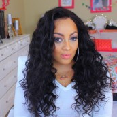 Loose Wave 250% High Density Glueless Lace Front Human Hair Wigs For Black Women