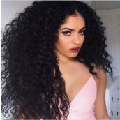 Natural  Color Loose Wave Brazilian Virgin 100% Human Hair Full Lace Wigs
