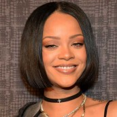 Rihanna Inspired Straight Short Bob Lace Front Human Hair Wigs 250% Density