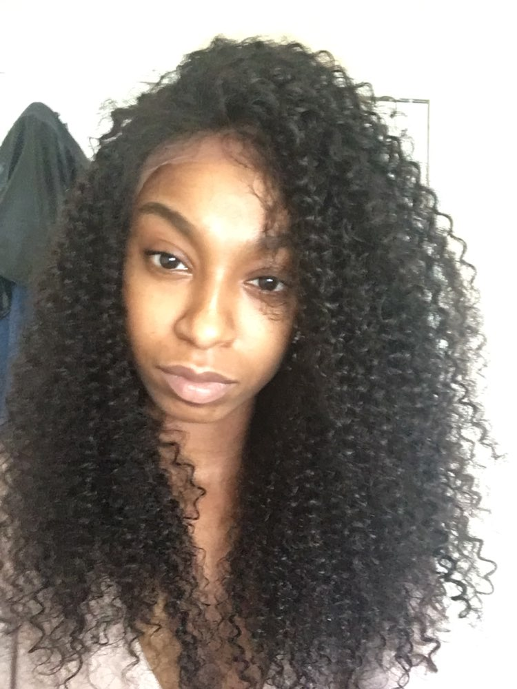 f0ae0b11c ... 360 Circular Lace Wigs Brazilian Virgin Hair Kinky Curly Full Lace Wigs  180% Density 100 ...