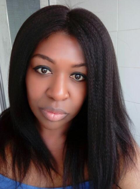 Brazilian Virgin Hair Italian Yaki Lace Front Human Hair Wigs Natural Color