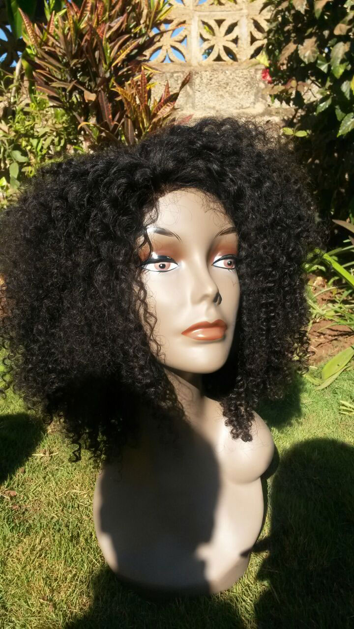 Kinky Curly Lace Closure with Weaves