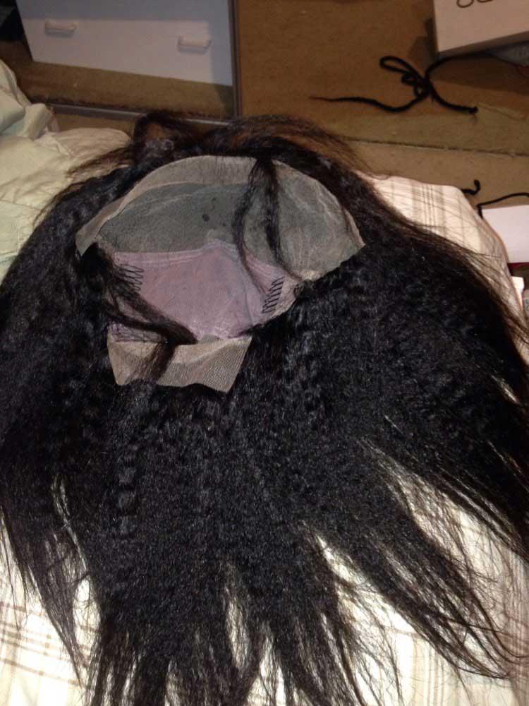 kinky straight full lace human hair wigs