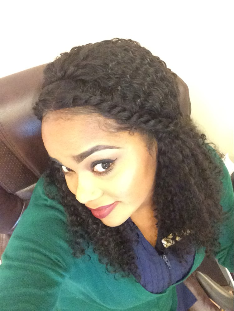 Natural Color High Quality 100% Brazilian Virgin Human Hair Wig Kinky Curly Lace Front Wigs