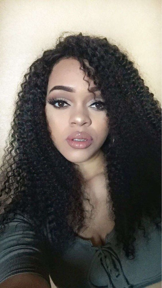 Natural Color Kinky Curly Hair Weaves Brazilian Virgin Human Hair 3