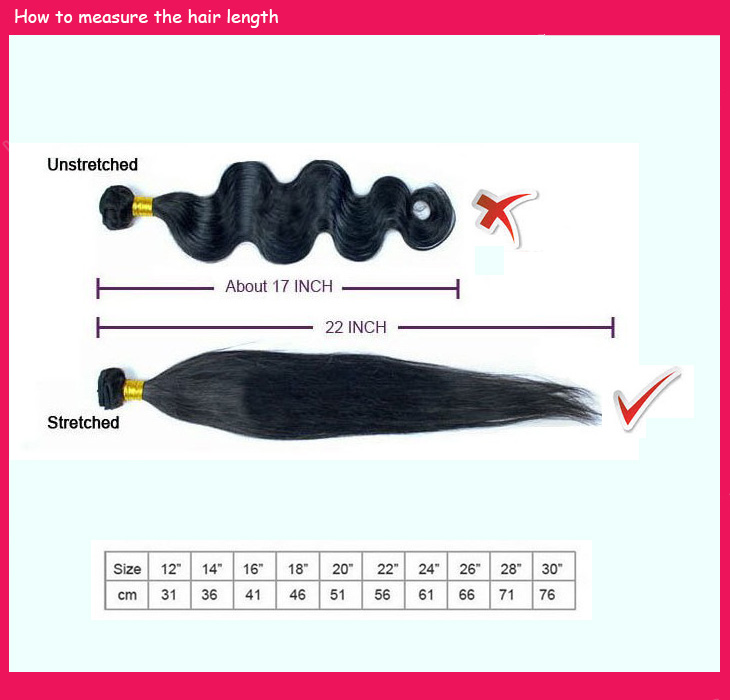 ComingBuy.com How to measure hair length on hair extensions