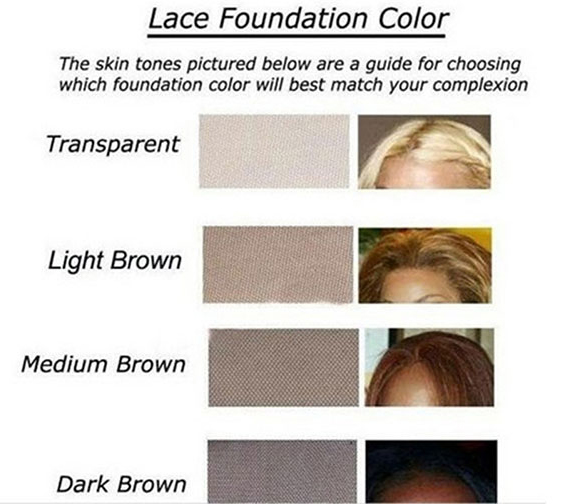 ComingBuy lace color chart